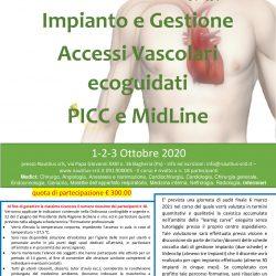 Corso ECM Impianto e gestione Accessi Vascolari ecoguidati PICC e Midline